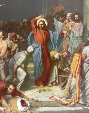Jesus and Money Changers